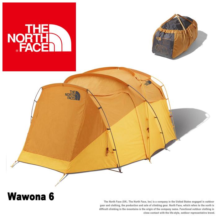 1000円引きCP クリアランス ザ ノース フェイス テント THE NORTH FACE ワオナ 6 メンズ レディース イエロー Wawona 6 NV21702 テント TENT 6人 アウトドア キャンプ 防水 軽量 広い 持ち運び簡単 シングル