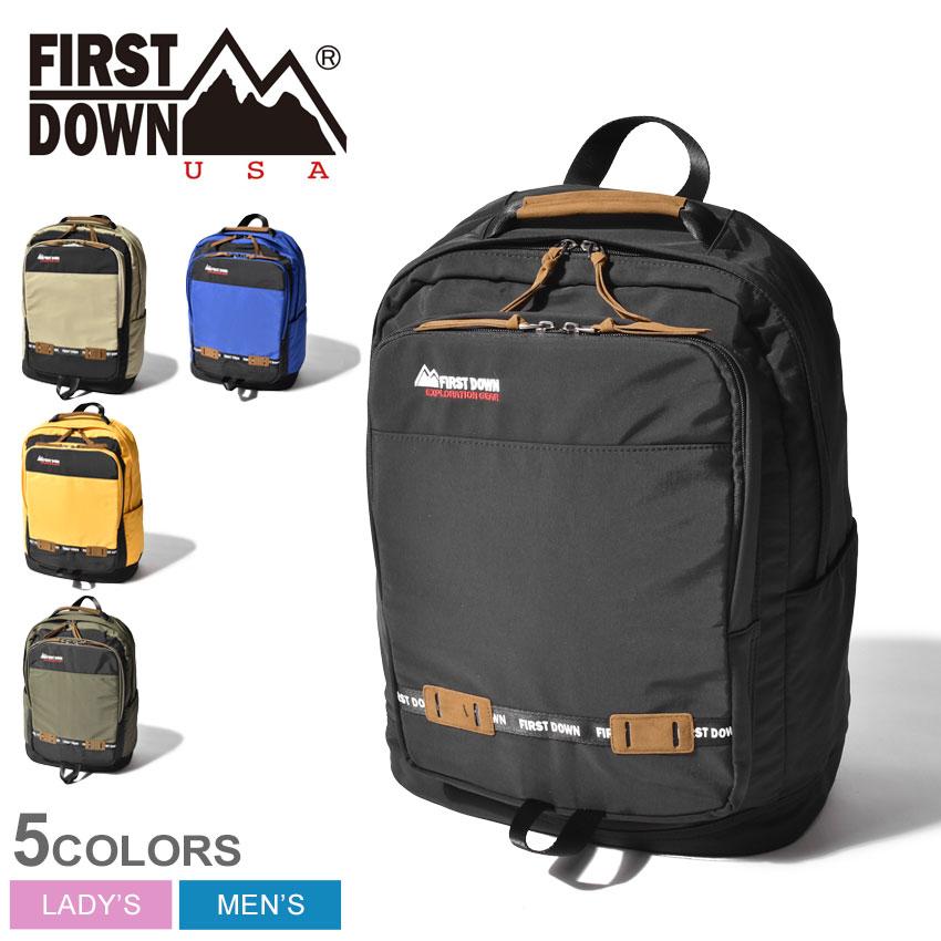 送料無料 FIRST DOWN ファーストダウン バックパック DJ リュック 33008 メンズ レディース 鞄 かばん アウトドア 通勤 通学 レジャー 旅行 リュックサック ユニセックス カジュアル スポーティ 黒 シンプル A4