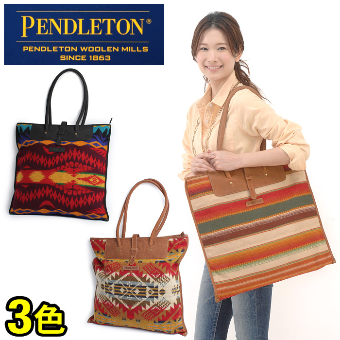 Pendleton All Tote Bag Pattern Wool Native Tricolor Roll Db123 Shoulder Men S For And Women