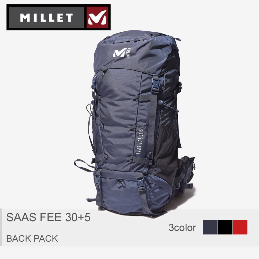 送料無料 MILLET ミレー バックパック 全3色サースフェー 30+5 Mサイズ SAAS FEE 30+5 M SIZEMIS0595 7317 1546 0247 メンズ レディース