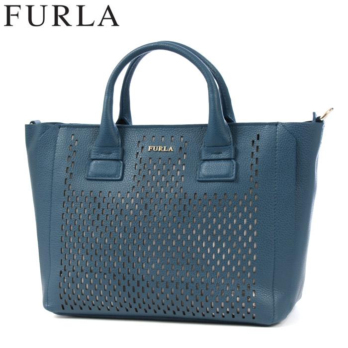 送料無料 フルラ FURLA 2wayトートバッグ カプリッチョ S ブルー(FURLA 878537 CAPRICCIO S TOTE)レディース(女性用) ブランドバッグ 高級 鞄 カバン 本革 レザー