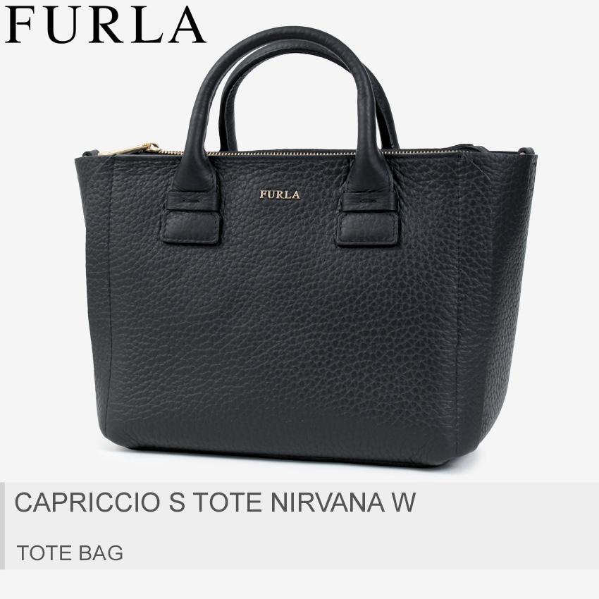 送料無料 FURLA フルラ トートバッグ オニキスカプリッチョ S CAPRICCIO S TOTE NIRVANA W869082 レディース