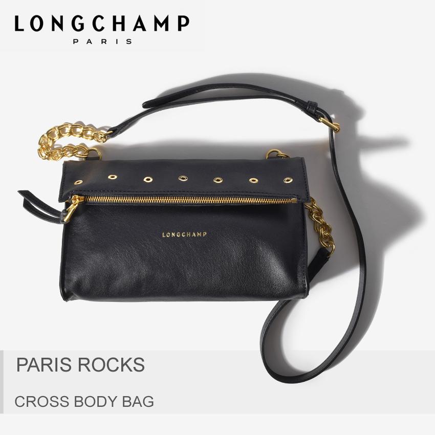 送料無料 ロンシャン LONGCHAMP ショルダー パリスロック クロスボディバッグ ブラックPARIS ROCKS CROSS BODY BAG 2076-839 001バック 斜め掛け 通勤 鞄 黒レディース