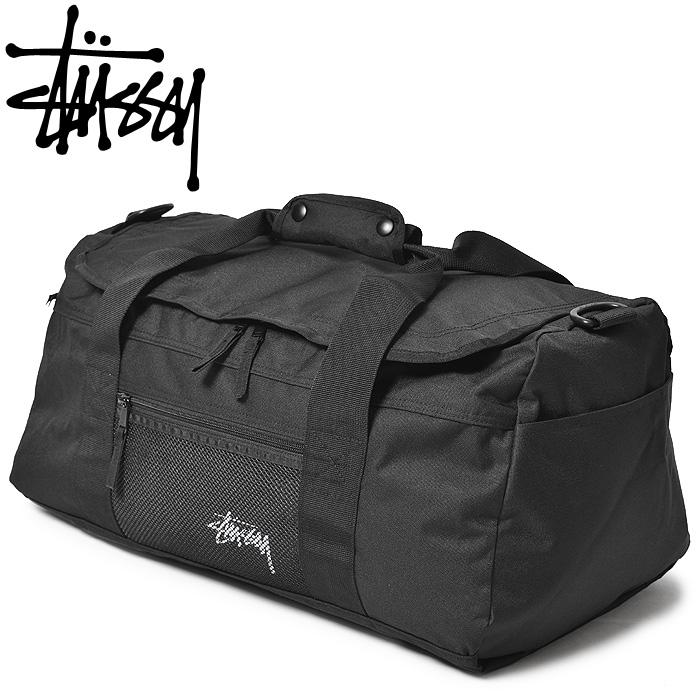 送料無料 STUSSY ステューシー ショルダーバッグ ストック ダッフル バッグ ブラックSTOCK DUFFLE BAG 134167カバン 鞄 トラベル 旅行 ストリート