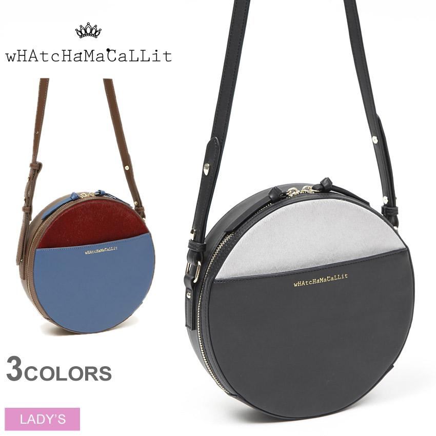送料無料 ワチャマコリ wHAtcHaMaCaLLit ラウンドポシェット(WM-047)ROUND POCHETTEショルダー バッグ 鞄 かばん レディース(女性用)