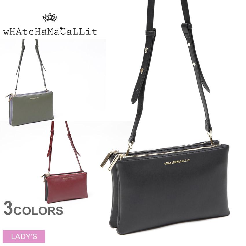 送料無料 ワチャマコリ wHAtcHaMaCaLLit スクエアポシェット(WM-049)SQUARE POCHETTEショルダー バッグ 鞄 かばん レディース(女性用)