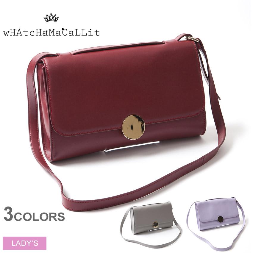 送料無料 ワチャマコリ wHAtcHaMaCaLLit ショルダーレザーバッグ(WM-031)LEATHER BAGショルダー バッグ 鞄 かばん レディース(女性用)