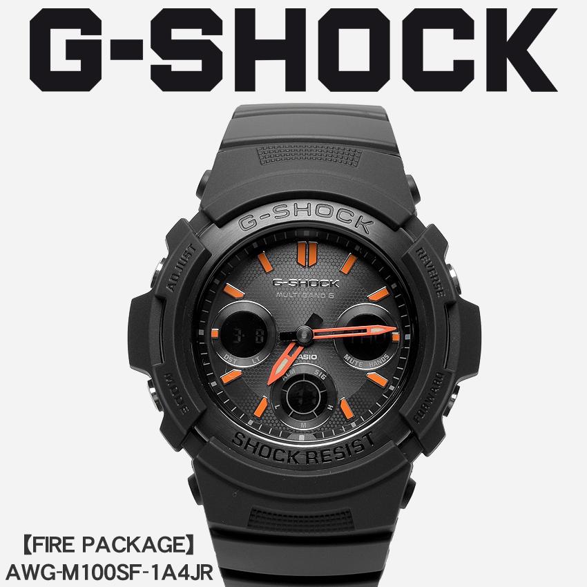 送料無料 G-SHOCK ジーショック CASIO カシオ 腕時計 ブラックファイアーパッケージ FIRE PACKAGEAWG-M100SF-1A4JR メンズ 【メーカー正規保証1年】