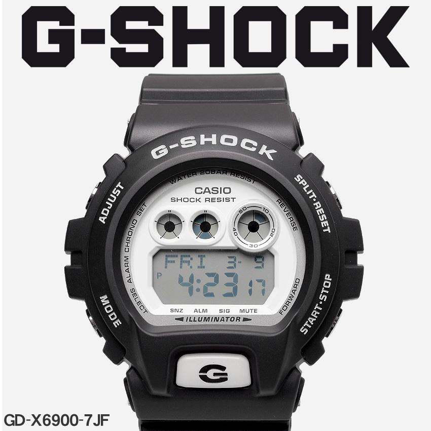 送料無料 G-SHOCK ジーショック CASIO カシオ 腕時計 ブラックGD-X6900GD-X6900-7JF メンズ 【メーカー正規保証1年】