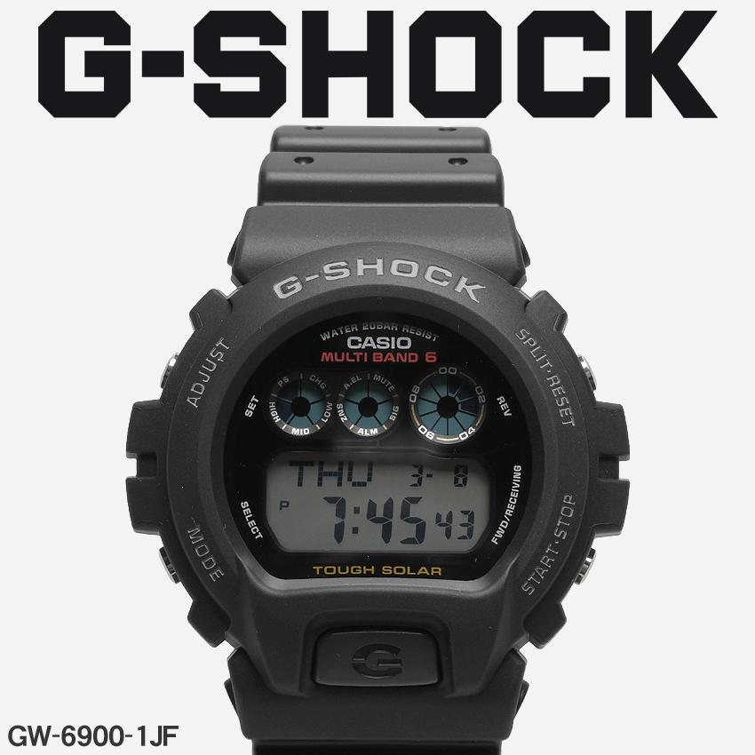 送料無料 G-SHOCK ジーショック CASIO カシオ 腕時計 ブラックDW-6900GW-6900-1JF メンズ 【メーカー正規保証1年】