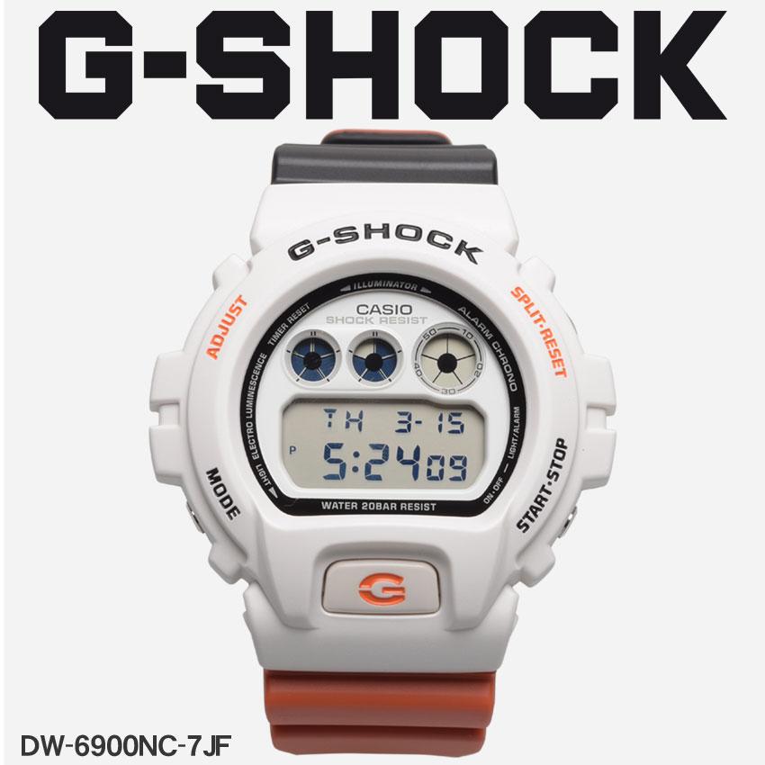 送料無料 G-SHOCK ジーショック CASIO カシオ 腕時計 レッドDW-6900DW-6900NC-7JF メンズ 【メーカー正規保証1年】