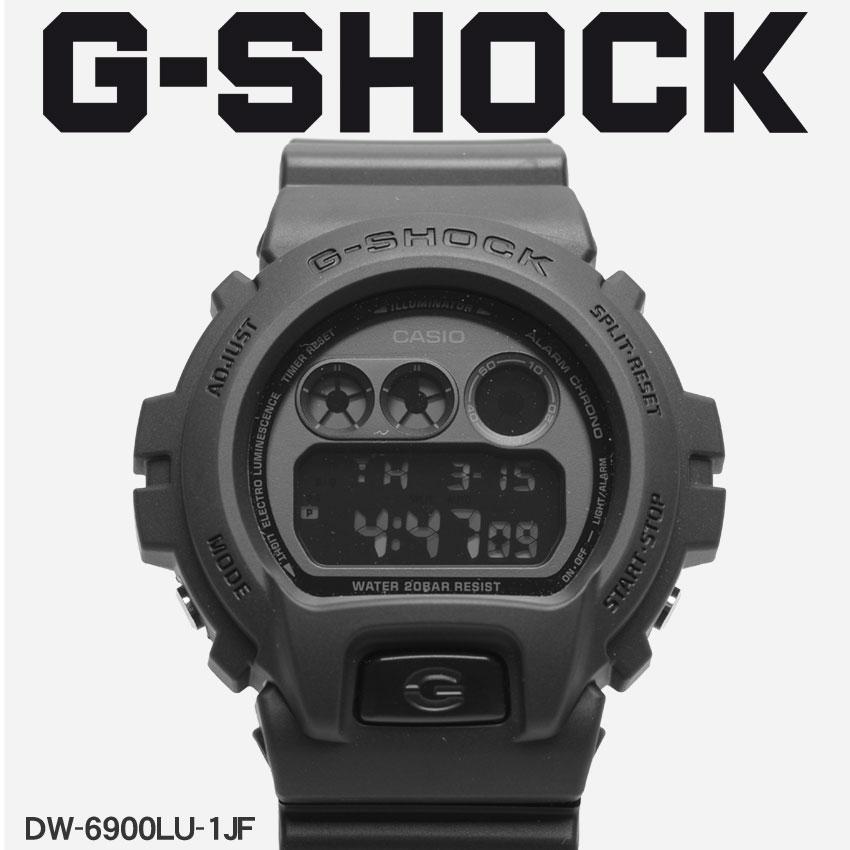 送料無料 G-SHOCK ジーショック CASIO カシオ 腕時計 ブラックDW-6900DW-6900LU-1JF メンズ 【メーカー正規保証1年】