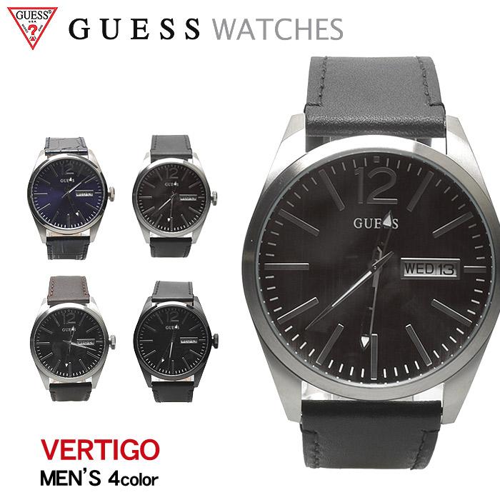 送料無料 GUESS WATCH ゲス 腕時計 ヴァーティゴ 全4色VERTIGO W0658 G1 G2 G3 G4ウォッチ 時計 アナログ クオーツ カジュアル ギフト プレゼント メンズ 青 黒