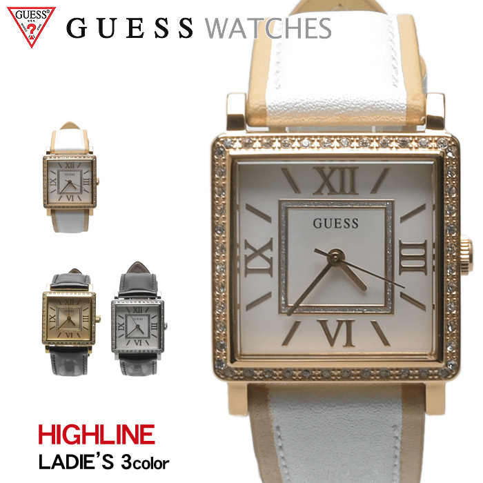 送料無料 GUESS WATCH ゲス 腕時計 ハイライン 全3色HIGHLINE W0829 L11 L3 L7ウォッチ 時計 アナログ クオーツ カジュアル ギフト プレゼント レディース