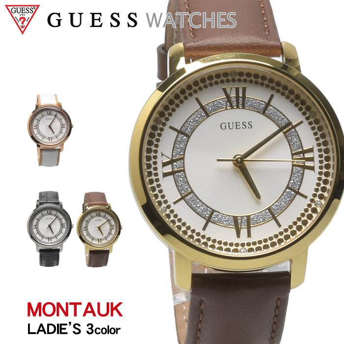送料無料 GUESS WATCH ゲス 腕時計 モントーク 全3色MONTAUK W0934 L1 L2 L3ウォッチ 時計 アナログ カジュアル ギフト プレゼント 金 レディース