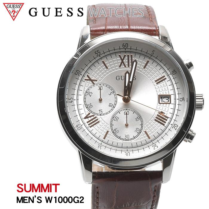 送料無料 GUESS WATCH ゲス 腕時計 サミットSUMMIT W1000 G2ウォッチ 時計 アナログ クオーツ カジュアル ギフト プレゼント メンズ