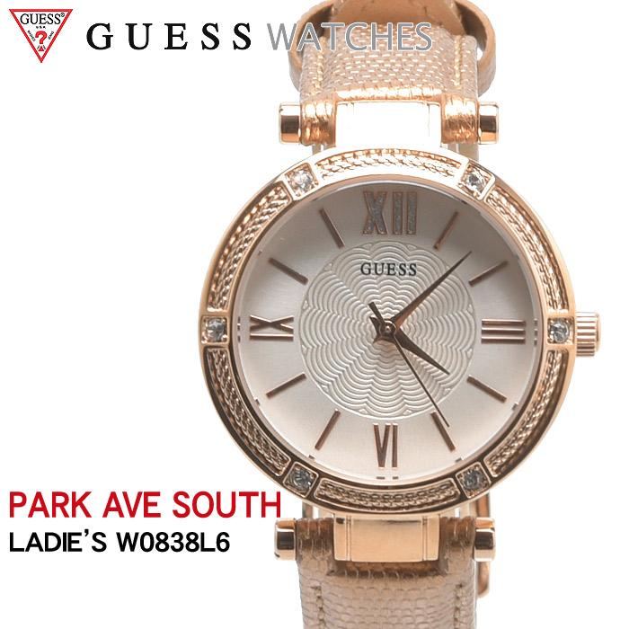 送料無料 GUESS WATCH ゲス 腕時計 パークアベサウス L6PARK AVE SOUTH W0838 L6ウォッチ 時計 アナログ クオーツ カジュアル ギフト プレゼント レディース