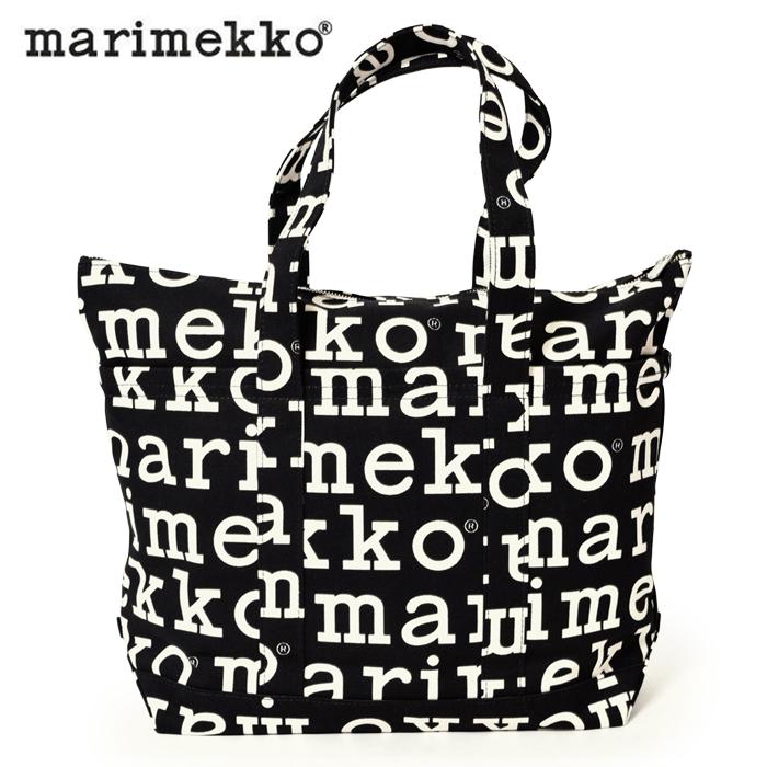 送料無料 マリメッコ MARIMEKKO ミニマツクリ トートバッグ UUSI MINI MATKURI ブラック×ホワイト41949-910鞄 かばん バック カジュアル デイリー ロゴ 北欧 フィンランド 雑貨 通勤 レディース(女性用)