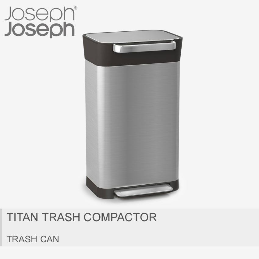送料無料 JOSEPH JOSEPH ジョセフジョセフ ごみ箱 シルバークラッシュボックス 30L TITAN TRASH COMPACTOR30030 [大型荷物] 【ラッピング対象外】