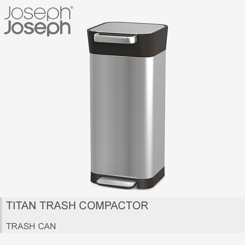 JOSEPH JOSEPH ジョセフジョセフ ごみ箱 シルバー クラッシュボックス 20L TITAN TRASH COMPACTOR 30037 [大型荷物] 【ラッピング対象外】