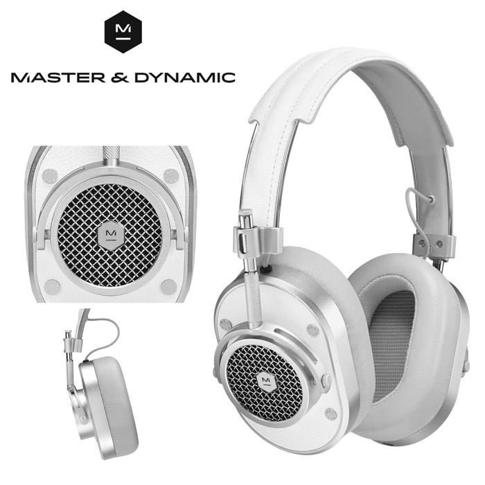 送料無料 マスター アンド ダイナミック MASTER & DYNAMIC オーバーイヤー ヘッドフォン MH40 シルバーメタル×ホワイトレザー ヘッドホン イヤホン オーバーイアー 音楽 モニター