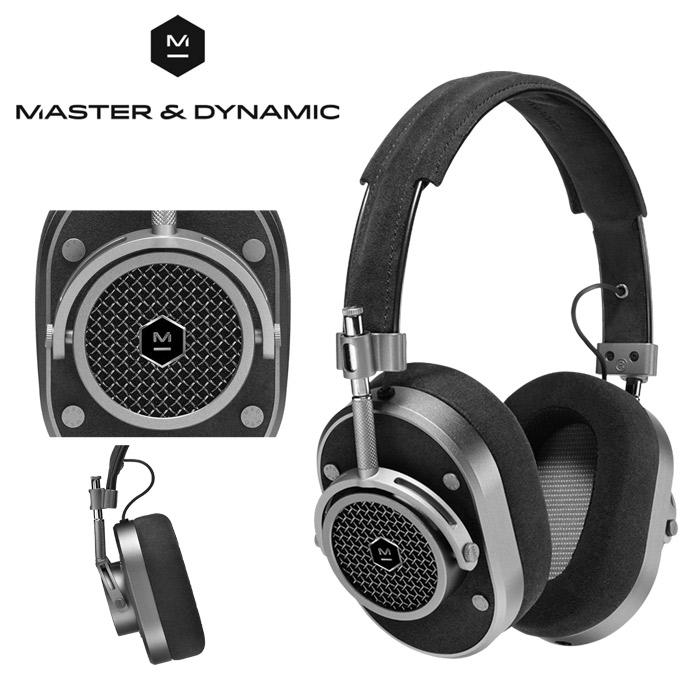 送料無料 マスター アンド ダイナミック MASTER & DYNAMIC オーバーイヤー ヘッドフォン MH40 ガンメタル×ブラックヘッドホン イヤホン オーバーイアー 音楽 モニター Wovenケーブル ラムメンズ 兼 レディース