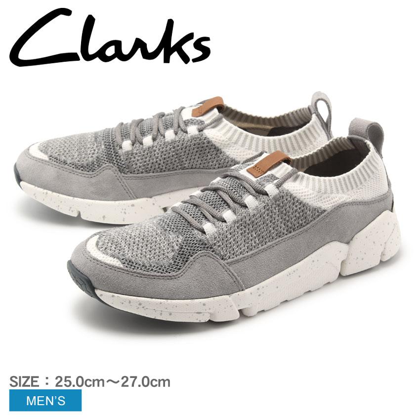 【クーポン配布中】CLARKS クラークス スニーカー グレー トライ アクティブ ニット TRAI ACTIVE KNIT 26133889 メンズ 誕生日プレゼント 結婚祝い ギフト おしゃれ