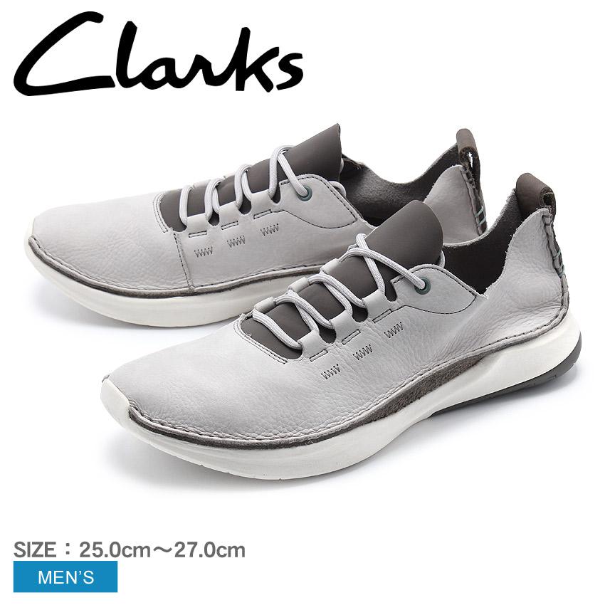 【クーポン配布中】CLARKS クラークス スニーカー グレープリボルーション ロー PRIVOLUTION LO26130307 白 グレー ローカット レザー 本革 メンズ 誕生日 プレゼント ギフト