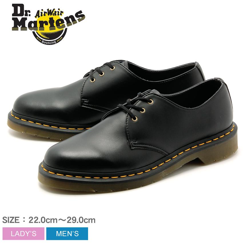 【max400円OFFクーポン配布中】ドクターマーチン 1461 ビーガン 3ホール ブラック (Dr.Martens 1461 VEGAN 3EYE BLACK) 黒 ヴィーガン 合皮 ワーク シューズ 靴 メンズ 男性 レディース 女性 誕生日プレゼント 結婚祝い ギフト おしゃれ