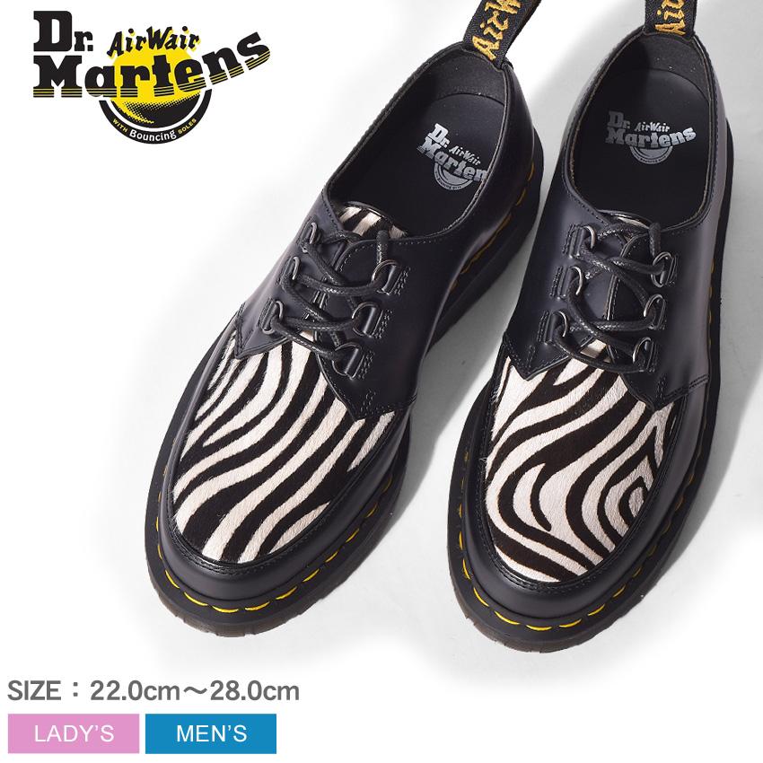 ドクターマーチン ラムジー ゼブラ クリーパーシューズ ブラック (dr.martens ramsey zeb creeper shoes R23348002) レザー シマウマ アニマル 動物 パンク ワーク シューズ 靴 メンズ 男性 レディース 女性 誕生日 結婚祝い