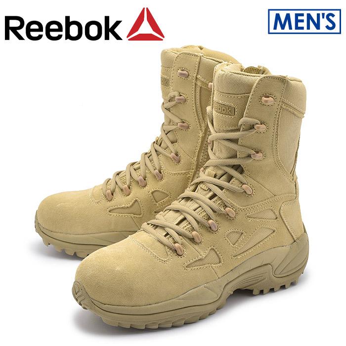 リーボック ワーク ラピッド レスポンス RB デザートタン (reebok work rapid response rb RB8894) 本革 レザー 安全靴 作業靴 耐油 防滑 ジップアップ ブーツ 誕生日プレゼント 結婚祝い ギフト おしゃれ