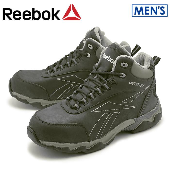 【クーポン配布中】リーボック ワーク ビーマーブーツ ブラック (reebok work beamer boots RB1068) 安全靴 作業靴 本革 レザー 防水 ウォータープルーフ 誕生日プレゼント 結婚祝い ギフト おしゃれ