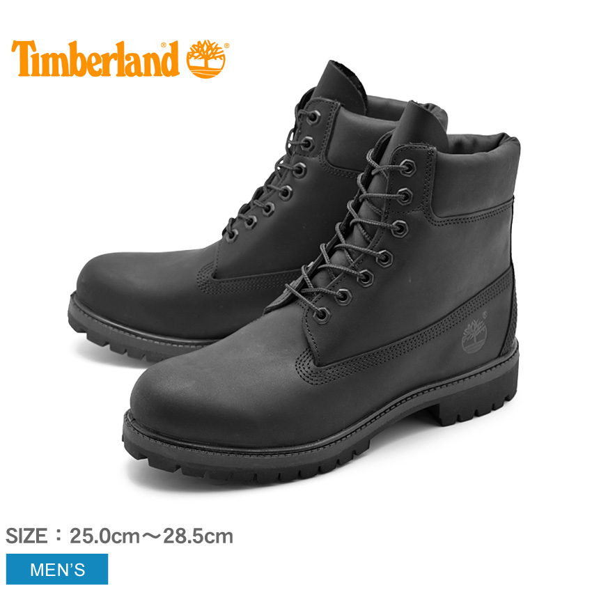 ティンバーランド 6インチ プレミアムブーツ オールブラック (timberland 6inch premium boots TB0A1MA6 001) 防水 レザー 本革 ロング ワーク カジュアル シューズ 靴 黒 メンズ 男性 誕生日プレゼント 結婚祝い ギフト おしゃれ