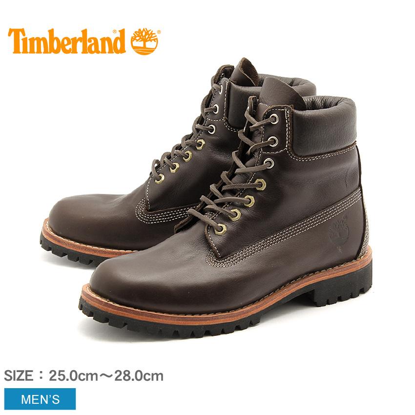 ティンバーランド アースキーパーズ ヘリテージ ラギッド LTD ブーツ ダークブラウン (timberland earthkeepers hrtg rugged ltd boot TB06848A) 防水 フルグレインレザー 本革 おしゃれ ワーク カジュアル シューズ 靴 メンズ 男性