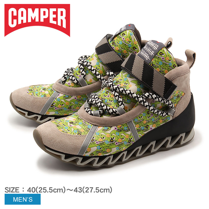 【クーポン配布中】カンペール トゥギャザー ヒマラヤン B.ウィルヘルム グリーン (CAMPER TOGETHER HIMALAYAN BERNHARD WILLHELM 36514 020) ベルクロ カジュアル デザイナーズ おしゃれ スニーカー シューズ 靴 メンズ 男性 誕生日 結婚祝い