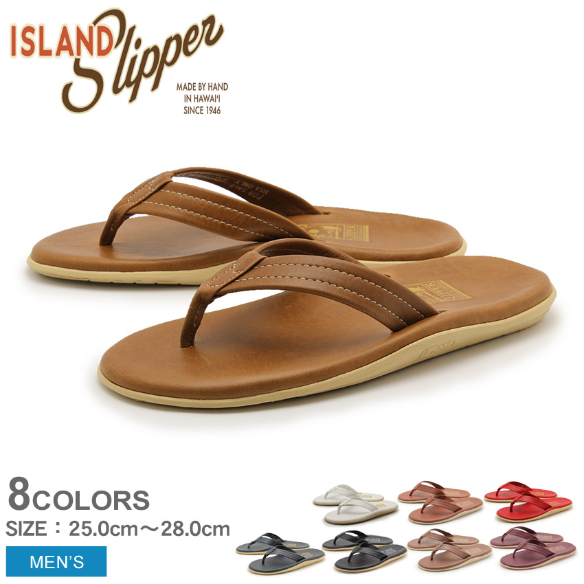 Island slipper SLIPPER ISLAND classic leather Sandals leather Sandals mens