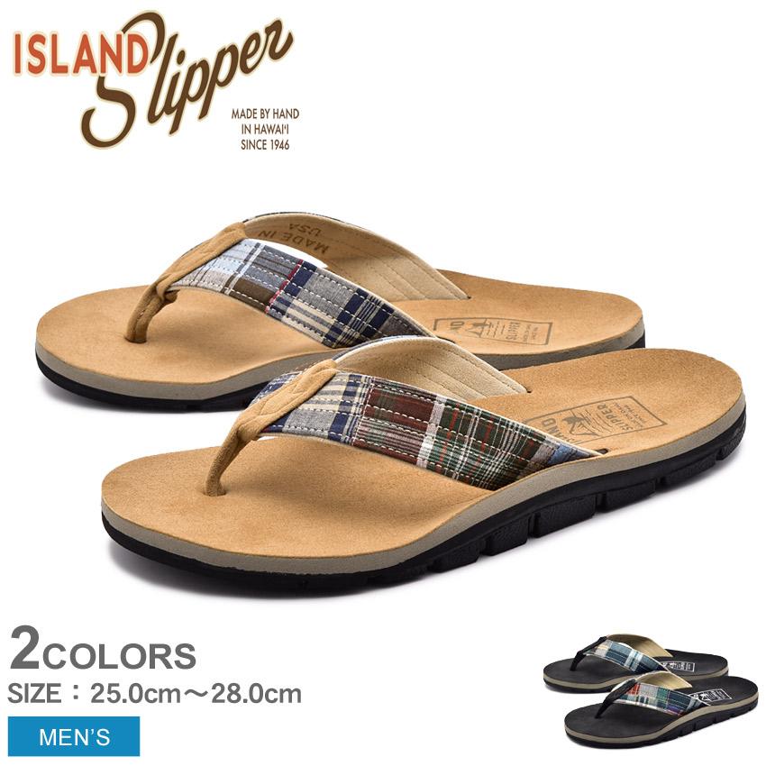 ISLAND SLIPPER アイランドスリッパ サンダル マドラス MADRAS IB8903M ビーチサンダル ビーサン メンズ レザー トング 男性 ギフト おしゃれ 夏