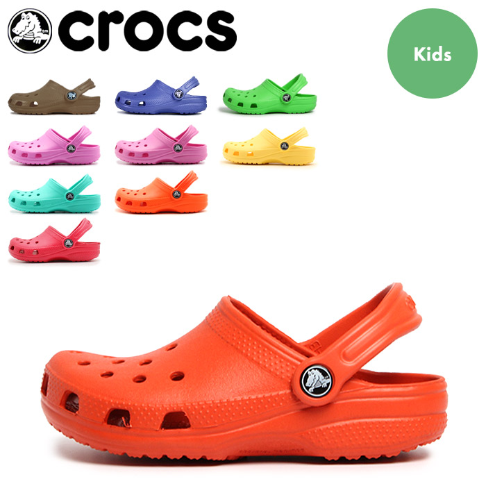 All 11 of 23 colors (CROCS KIDS CLASSIC CAYMAN) of national clocks kids CROCS kids classical music (Kay man) sandals baby & kids children