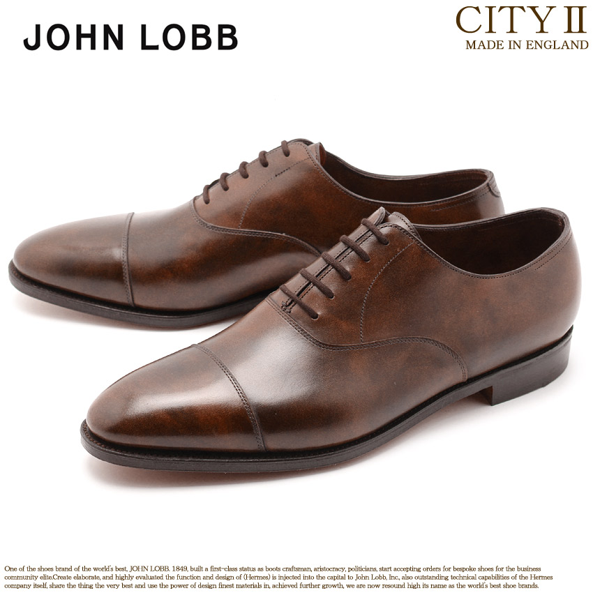 JOHN LOBB ジョンロブ ドレスシューズ ブラウン シティ2 CITYII 008181L 2Y 茶色 革靴 オックスフォード フォーマル カジュアル ビジネス レースアップ オフィス スーツ レザー 紳士靴 革 メンズ 男性用 父の日