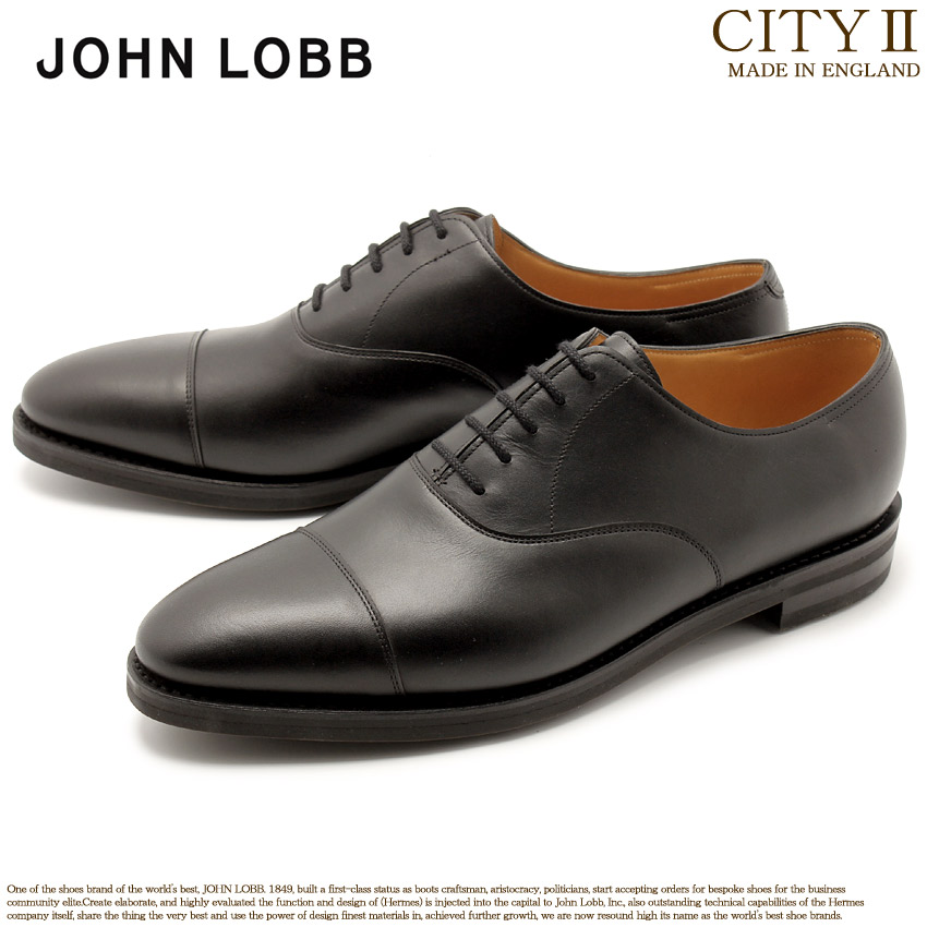 JOHN LOBB ジョンロブ ドレスシューズ ブラック シティ2 CITYII 00801QL 1R 黒 革靴 オックスフォード フォーマル カジュアル ビジネス レースアップ オフィス スーツ レザー 紳士靴 革 メンズ 男性用