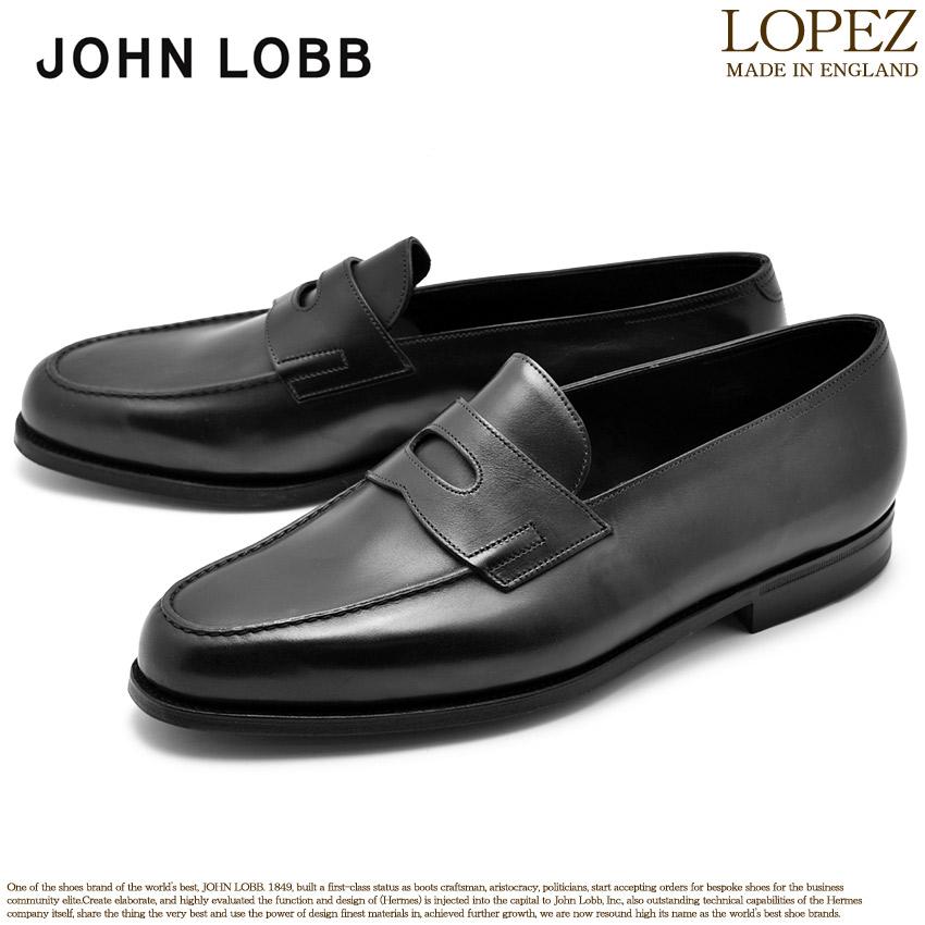 【クーポン配布中】JOHN LOBB ジョンロブ ローファー ブラック ロペス LOPEZ 309031L 1R 黒 革靴 フォーマル カジュアル ビジネス オフィス スーツ レザー 紳士靴 革 メンズ 男性用