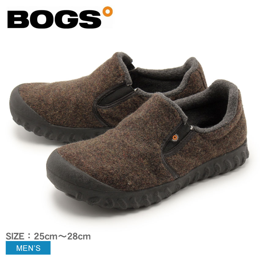 【クーポン配布中】ボグス BOGS スノーシューズ ブラウン Bモック ロー ウール BーMOC LOW WOOL 72265 ブーツ レインシューズ フリース ふわふわ 防水 防滑 保温 メンズ