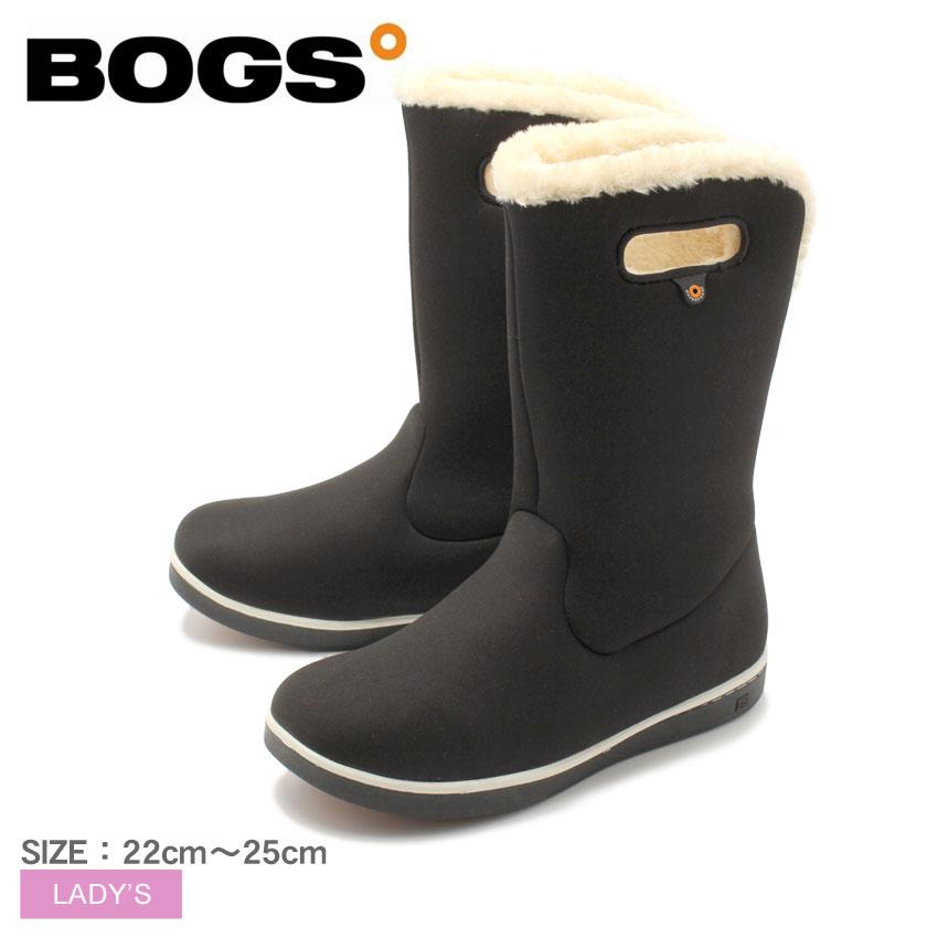 ボグス BOGS スノーブーツ ブラック ウィメンズ ミッド ブーツ WOMENS MID BOOT 78008A 黒 ロング レディース 防水 防滑 保温