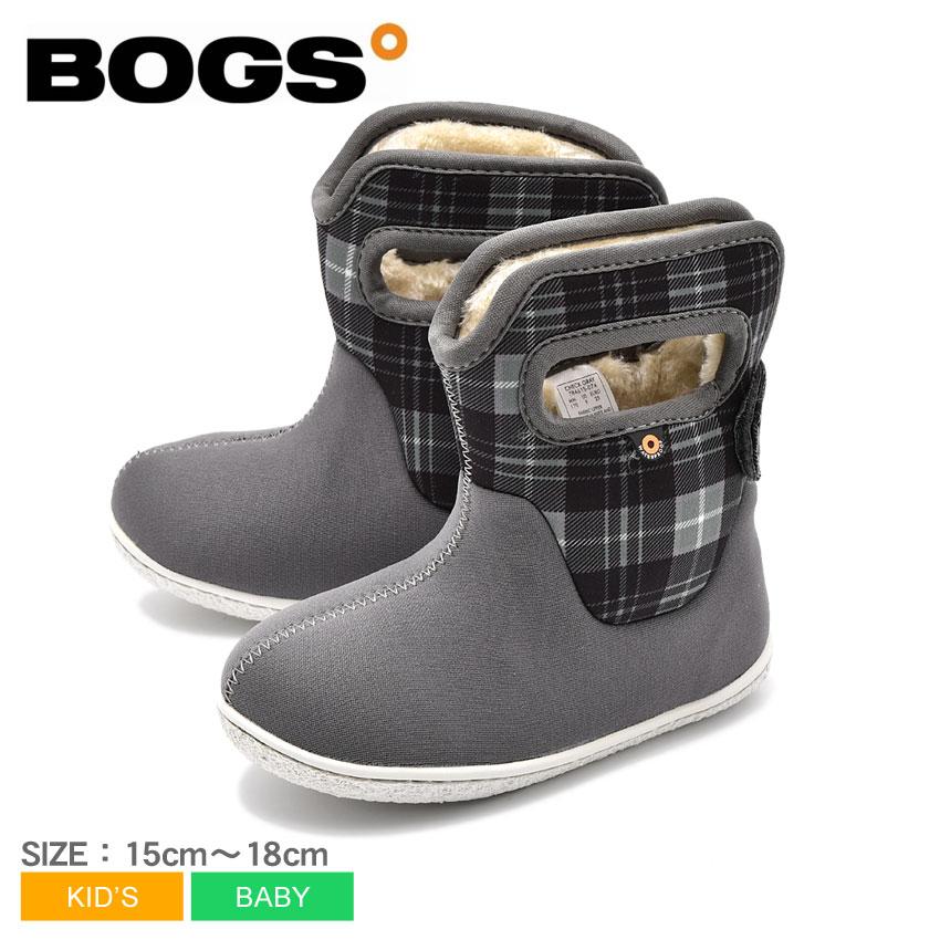 【MAX400円OFFクーポン】ボグス BOGS スノーブーツ グレー チェック CHECK 78461S ブーツ 子供靴 可愛い おしゃれ 防水 防滑 保温 ベビー&キッズ(子供用)