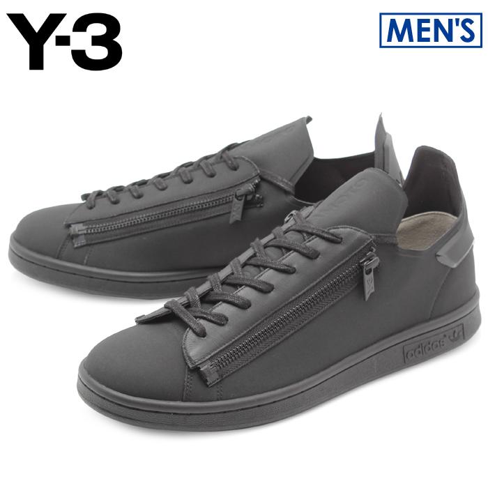 アディダス Y-3 スタンジップ ブラック×コアブラック (adidas y-3 yohji yamamoto stan zip CG3207 ヨウジヤマモト スタンスミス モード カジュアル シューズ 靴 メンズ 男性 誕生日プレゼント 結婚祝い ギフト おしゃれ