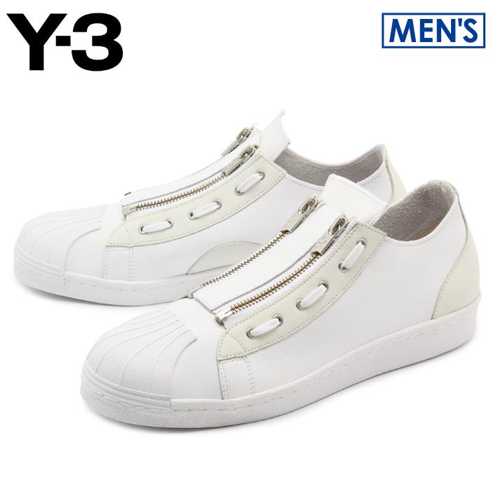 アディダス Y-3 スーパージップ (adidas y-3 yohji yamamoto super zip CG3210) ヨウジヤマモト スーパースター モード カジュアル シューズ 靴 メンズ 男性 モノトーン 誕生日プレゼント 結婚祝い ギフト おしゃれ