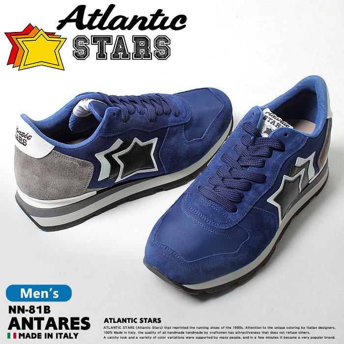 【クーポン配布中】アトランティックスターズ アンタレス ブルー×ネイビー (atlantic stars antares NN-81B) 星柄 レトロ ポップ ストリート シューズ 靴 誕生日プレゼント 結婚祝い ギフト おしゃれ