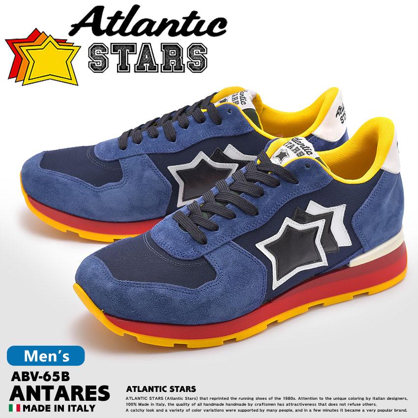 【MAX600円OFFクーポン配布】アトランティックスターズ アンタレス ネイビー×ブルー (atlantic stars antares ABV-65B) 星柄 レトロ ポップ ストリート シューズ 靴 誕生日プレゼント 結婚祝い ギフト おしゃれ