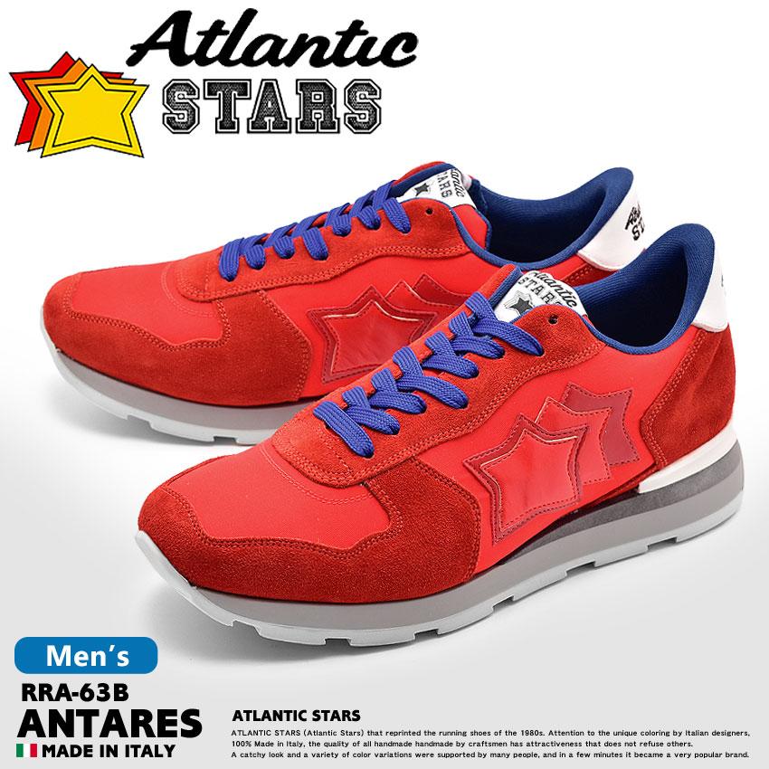 【最大600円OFFクーポン】ATLANTIC STARS アトランティックスターズ スニーカー レッド アンタレス ANTARES RRA-63B メンズ ローカット