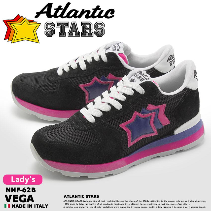 アトランティックスターズ ベガ ブラック (atlantic stars vega NNF-62B) 星柄 レトロ ポップ ストリート シューズ 靴 誕生日プレゼント 結婚祝い ギフト おしゃれ